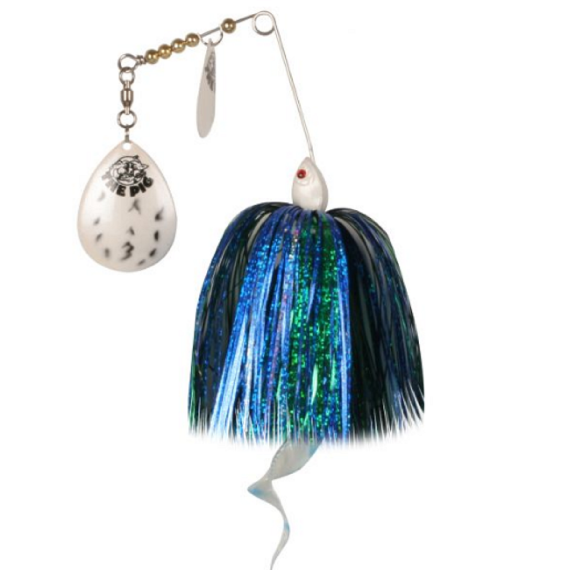 Pig Spinnerbait Silver - Blue/Silver/Pearl