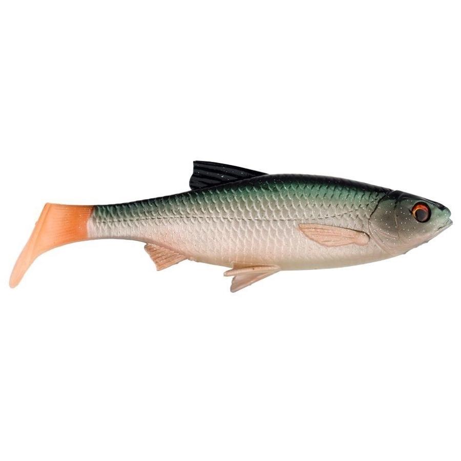 Софтбейт Savage Gear River Roach Paddletail Green Silver